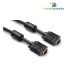 Cable Vga Hdb15M-Hdb15M - 10 M. Apantallado - Vulcanizado + Ferrita