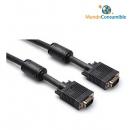 Cable Vga Hdb15M-Hdb15M - 3 M. Apantallado - Vulcanizado + Ferrita