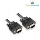 Cable Vga Hdb15M-Hdbm15M Ferrita Negro 3M