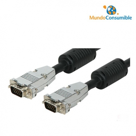 CABLE VGA MACHO/MACHO - 5.00M HQ METALICO
