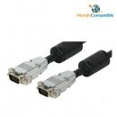 Cable Vga Hdb15M-Hdb15M - 15.00 M. (Conector Metal Desmontable) (Macho-Macho)