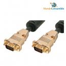 Cable Vga Hdb15M-Hdb15M - 20.00 M. Hq Triple Apantallamiento Dorado (Conector Metal Desmontable) (Ma