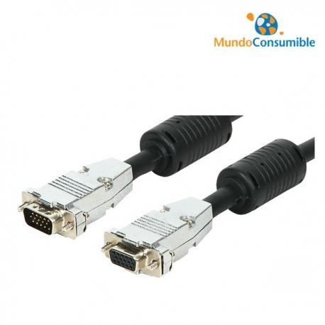CABLE VGA MACHO/HEMBRA - 5.00M METALICO