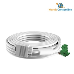 Cable Vga Vision 10 Metros 1Xvga - Conector Fenix Vga Desmontado