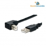 CABLE USB 2.0 TIPO A/M A B/M 90º ACODADO 1m.