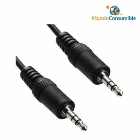 CABLE AUDIO JACK 3.5MM STEREO MACHO / MACHO 5.00MT