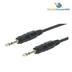 Cable Audio Jack 6.3 Macho - Macho Estereo 3 Metros