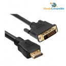 Cable Hdmi - Dvi 19Pinesm-18+1Pinesm - 15.00 M.