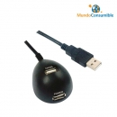 Cable Usb 2.0 Prolongador + Base Magnetica A-M - A-H 1.80 Metros