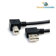CABLE USB 2.0 A/M - 90 GRADOS - B/M 90 GRADOS 1.8m