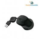 Raton Mini Usb Optico + Cable Retractil + Scroll Negro