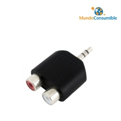 Adaptador Audio Jack 3.5 Stereo Macho - 2Xrca Hembra