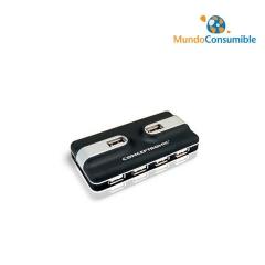 HUB 7 PUERTOS USB2.0 CONCEPTRONIC C7USB2 CON FUENTE DE ALIMENTACION NEGRO
