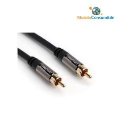 Cable Conexion Rca Coaxial 1Xrca Macho-Macho 3 Metros Libre De Oxigeno