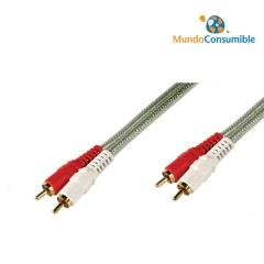 Cable Conexion Rca 2Xrca Macho-Macho 10 Metros Alta Calidad
