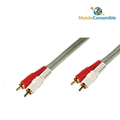 Cable Conexion Rca 2Xrca Macho-Macho 5 Metros Alta Calidad