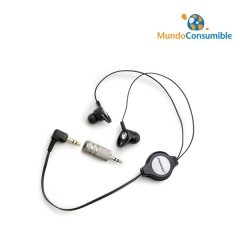 AURICULAR MONOAURAL CABLE RETRACTIL 2XJACK 3.5 MACHO