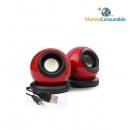 Altavoz Mini Speaker Power Usb Minijack Rojo