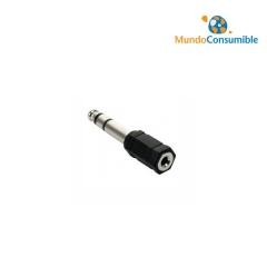 Adaptador Audio Jack 6.3 Stereo Macho - 2Xjack 3.5 Stereo Hembra