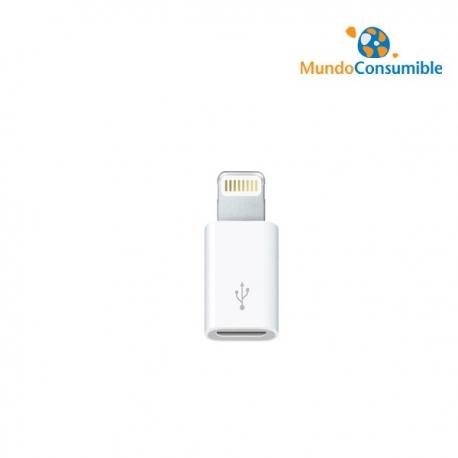 ADAPTADOR MICRO USB / APPLE LIGHTNING 8PIN 3GO