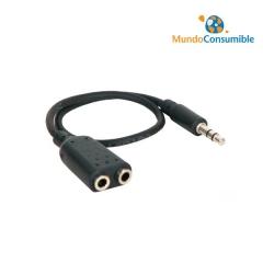 Adaptador Audio Jack 3.5 Mono Macho - 2Xjack 3.5 Stereo Hembra
