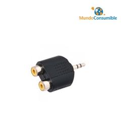 Adaptador Audio Jack 6.3 Stereo Macho - 2Xrca Hembra