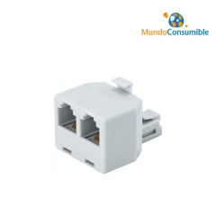 Adaptador Ethernet 2Xrj45 Hembra - 1Xrj45 Macho