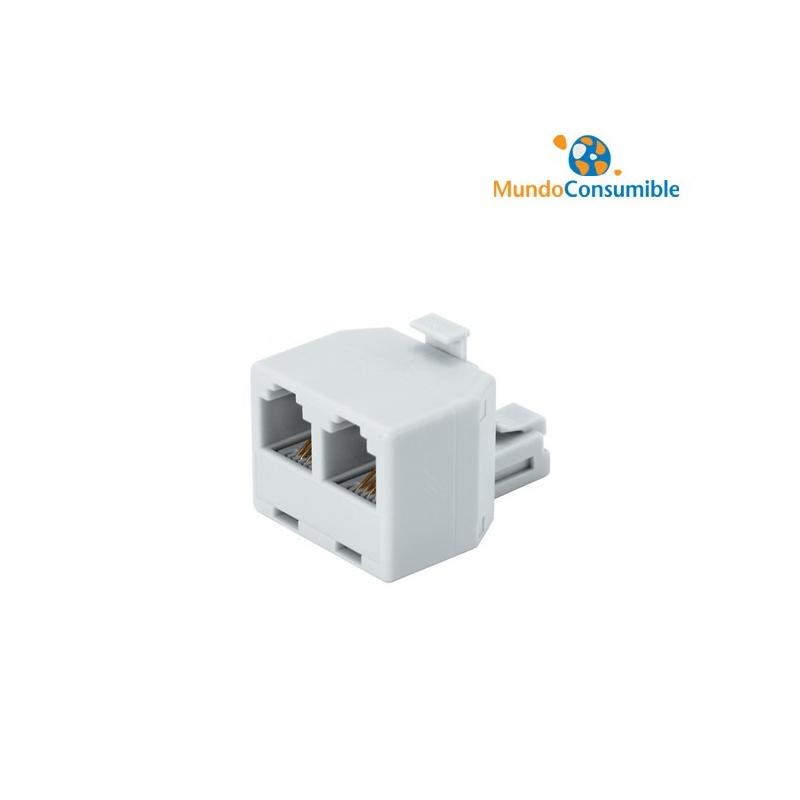 Adaptador Ethernet 2Xrj45 Hembra - 1Xrj45 Macho - Mundo Consumible ...