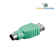 ADAPTADOR USB TIPO A/H - MINI DIN 6/M (PS2)