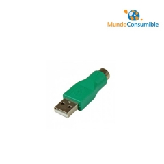 ADAPTADOR USB TIPO A/M - MINI DIN 6/H (PS2) (PS2-USB)