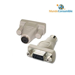 ADAPTADOR PS2/SERIE - 6 MINIDIN MACHO - DB9 HEMBRA