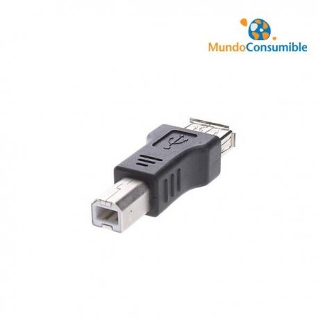 ADAPTADOR PARA CABLES USB SALIDA DE TIPO B/H A A/M