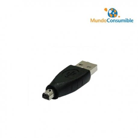 ADAPTADOR USB 2.0 A/M MINI - B/M 8 PINES