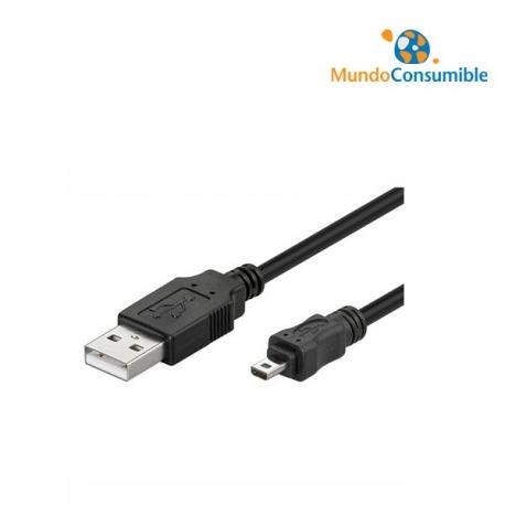CABLE USB A/MACHO - MINI B/M 8 PINES - 1.8 METROS