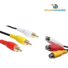 Cable Conexión 3Xrca M-H 5.00 Metros