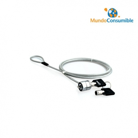 CABLE SEGURIDAD PORTATIL CON LLAVE