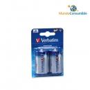 Pila Alcalina Lr20 Pack2 Vernatim