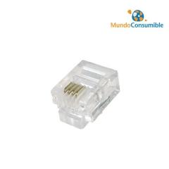 Conector Rj11 4 Conductores Para Crimpar (Pack 25)
