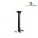 Soporte Para Proyector + Brazo Ajustable Giro Orientable 360º Horizontal - 15º Vertical Plata Metali