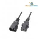 Cable Alimentacion Alargador Iec - Iec 1.20 Metros