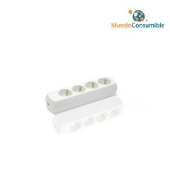 Regleta 4 Tomas 3500W Sin Interruptor - Sin Cable
