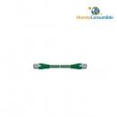 Latiguillo Utp Flexible Cat. 5E. Color Verde. - 3.00 M.
