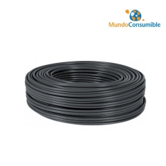 Bobina Cable Ftp Cat 5E Solido Negro Exteriores 100M