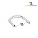 Cables Modular Rizado Para Auricular Telefónico. - Marfil 3.00 M. Rj11