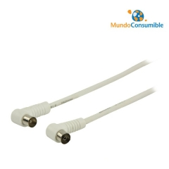 Cable Tv-Blanco Recto-Acodado 1.00 M.