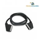 Cable Euroconector Macho-Macho 1.50M Metalico Gold