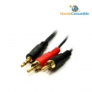 Cable Audio Jack 6,3Mm Stereo Macho - 2 Rca Macho