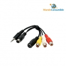 Cable Audio-Video Jack 3,5Mm + Super Video7P - Super Video + 3Rca