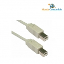Cable Usb 2.0 B-M - Bm - 1.8M