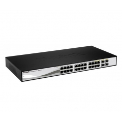 Switch 24P D-Link 10-100-1000 Gigabit + 4Combo